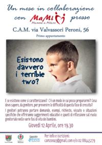 Locandina Evento Terrible Two, Giovedì 12 Aprile 2018, ore 19.30 C.A.M. Milano, Ma Mi